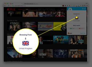 Browing Netflix from UK