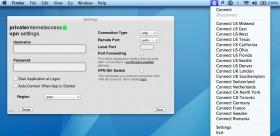 Private Internet Access Mac Screenshot